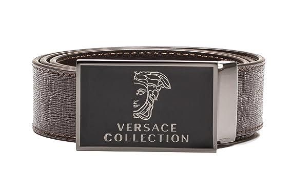 cce36db2bc0 Versace Gürtel mit strukturiertem braunen Leder - 80(FR)   80(IT ...