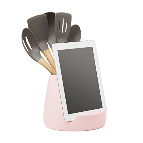 Amazon.com: Ceramic Kitchen Ipad Stand and Utensil Holder ...