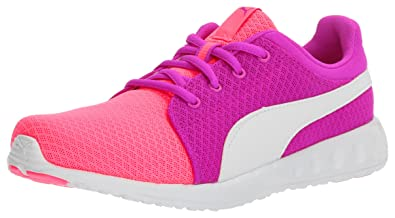 9c38d18cd22 PUMA Girls  Carson Runner 400 Mesh Jr Sneaker Knockout Pink White