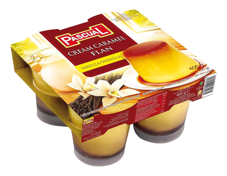 Pascual Flan Vainilla - Paquete de 4 x 100 gr - Total: 400 gr: Amazon.es: Alimentación y bebidas