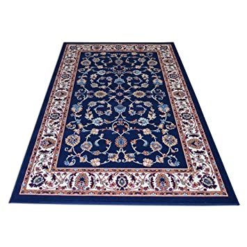 webtapis tapis motif oriental classique tapis pas cher style persan royal shiraz 2079 blue - Tapis Pas Cher