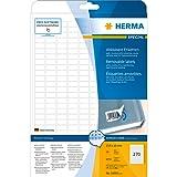 Herma 10000 Universal-Etiketten ablösbar (17,8 x 10 mm auf A4, selbstklebend, Movables, Papier, matt) 6.750 Stück, weiß