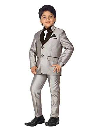 0cfc80ae328 AHHAAAA Kids Party Wear 5 Pc Boys Formal Suit