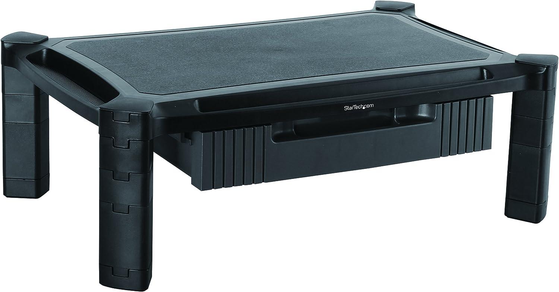 StarTech.com Base con Cajón para Monitor - de Altura Ajustable con Columnas Apilables - con Soporte para Pantallas hasta 32 Pulgadas