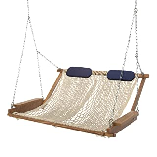 product image for Nags Head Hammocks Cumaru Deluxe Rope Porch Swing, Oatmeal DuraCord
