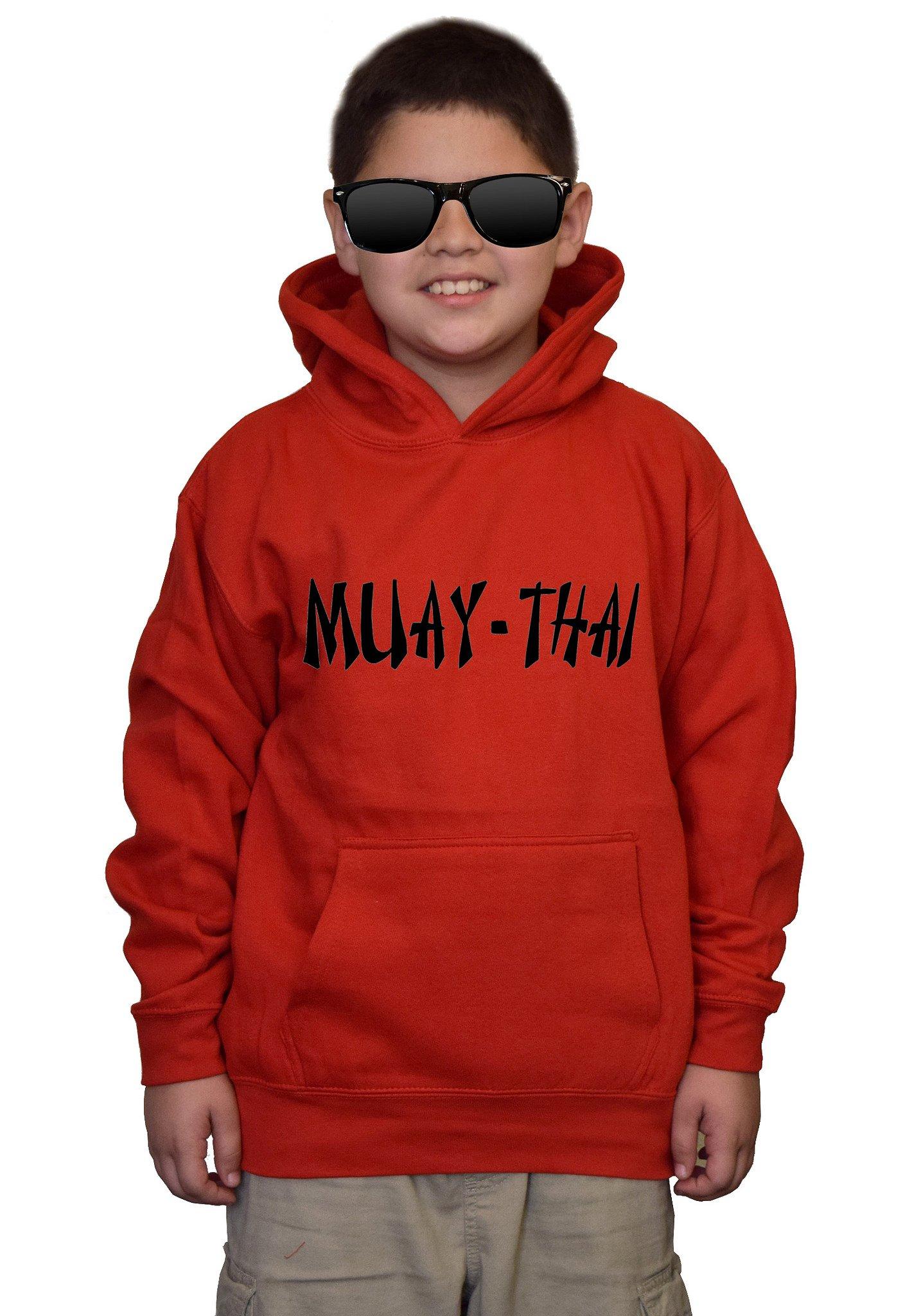 Youth Muay-Thai MMA V442 Red kids Sweatshirt Hoodie Large