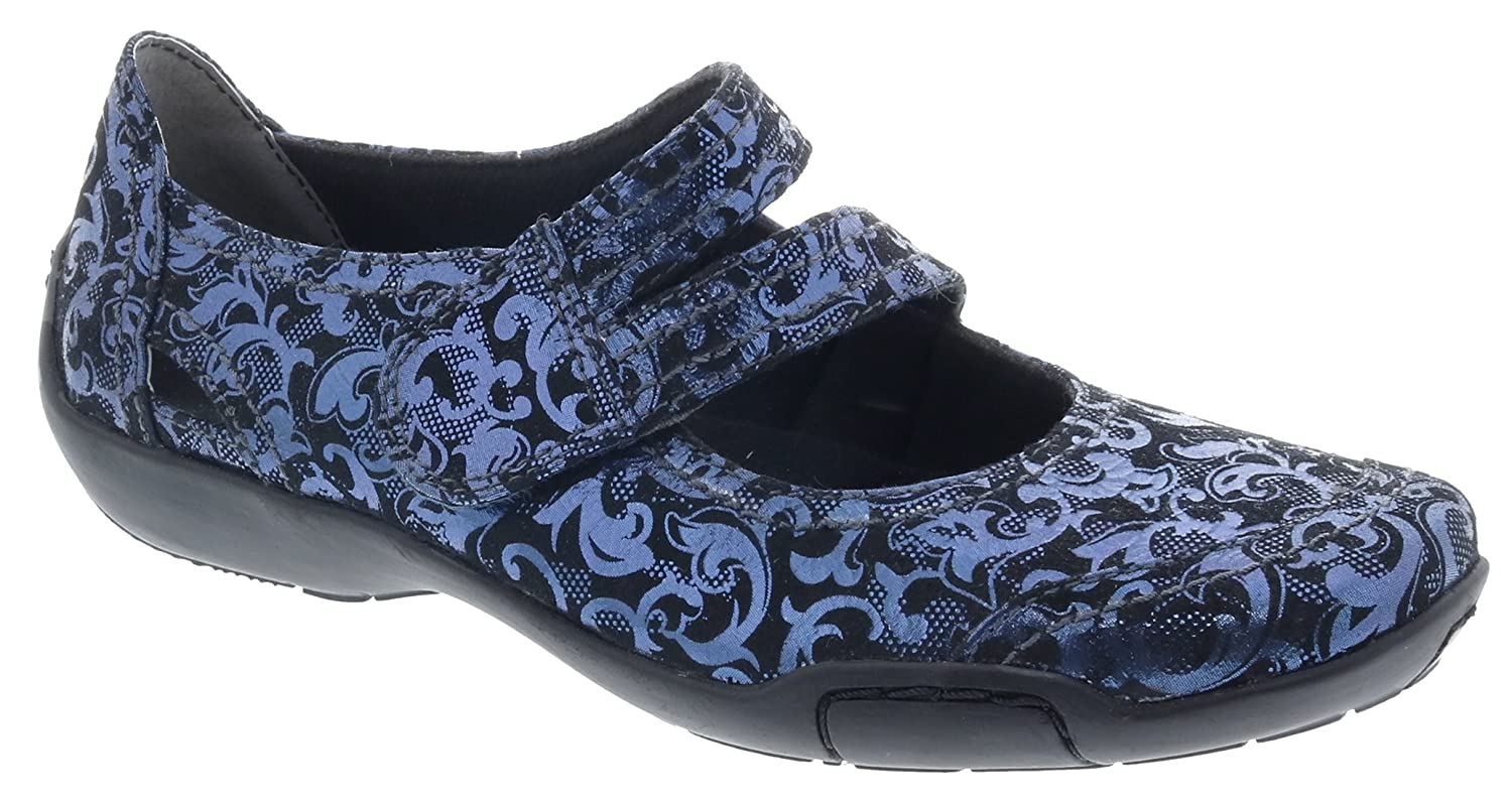 Ros Hommerson Chelsea Mary Jane Women's Slip On Shoes B07FP4DXF9 5 B(M) US|Blue/Jacquard