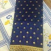 449c46c09f arars Women's Silk Kanjivaram Kanchipuram Pattu Saree (Mustard, Free ...