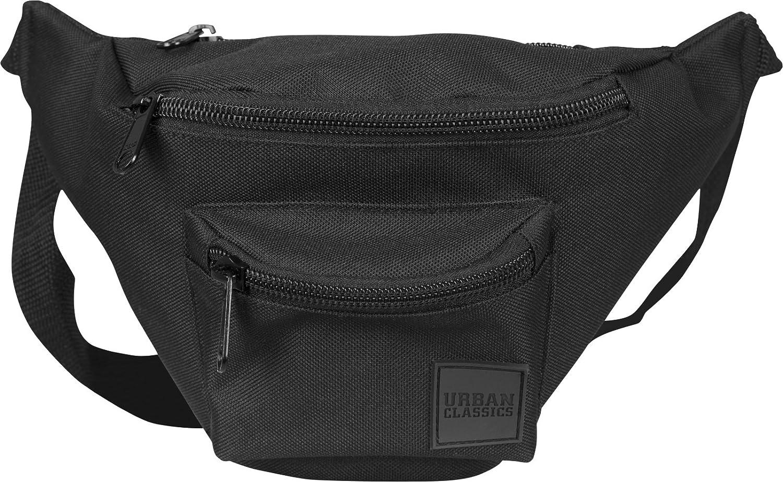Noir 30 cm Blk//blk Urban Classics Triple-Zip Hip Bag Sac bandouli/ère