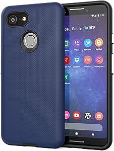 Pixel 3 Case, Crave Dual Guard Protection Series Case for Google Pixel 3 - Navy