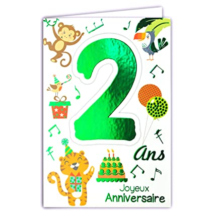 69-2002 - Tarjeta de felicitación para cumpleaños de 2 años ...
