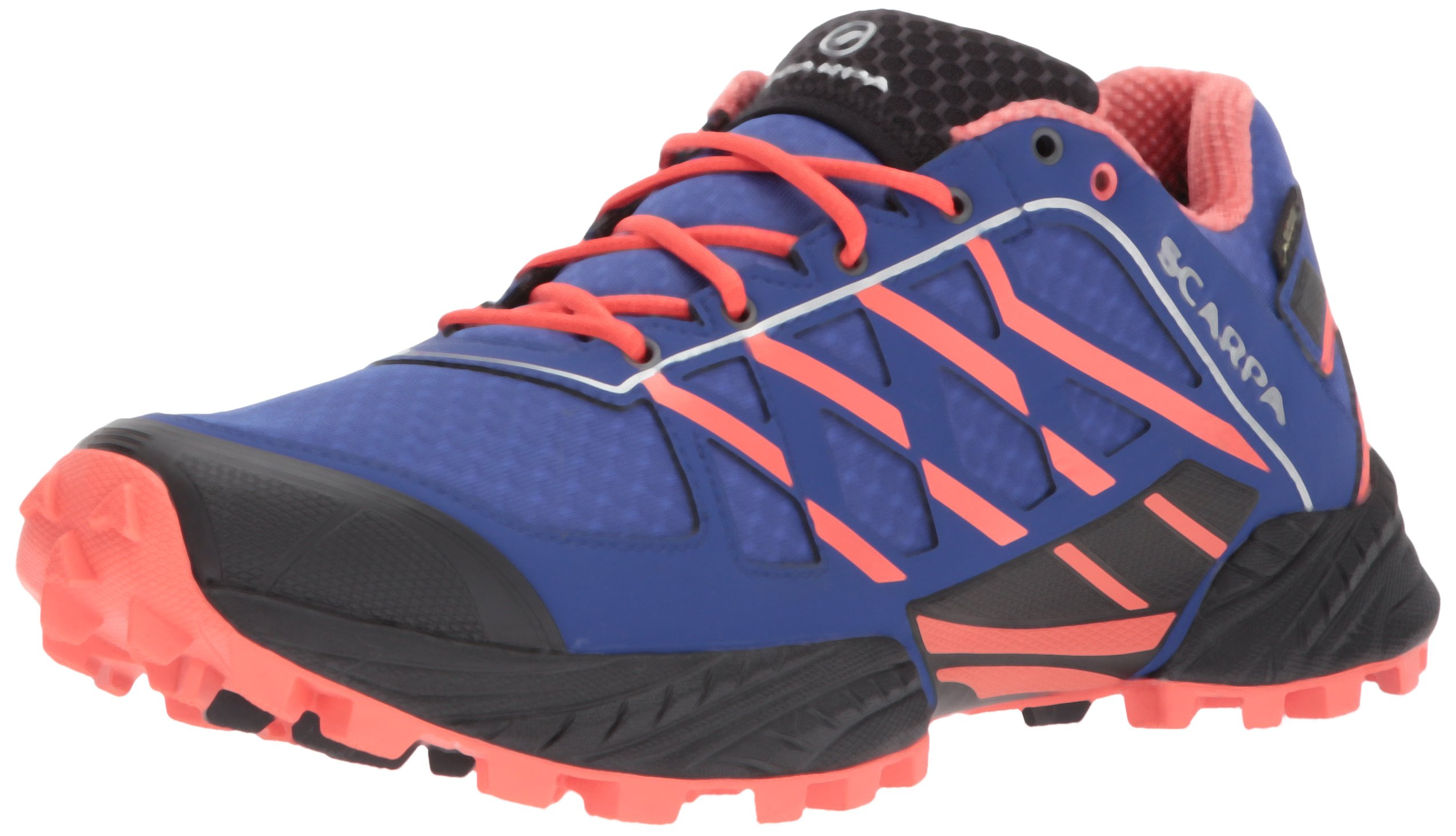 SCARPA Women's Neutron GTX Trail Running Shoe Backpacking Boot, Clematis/Coral Red, 37.5 EU/6.5 M US