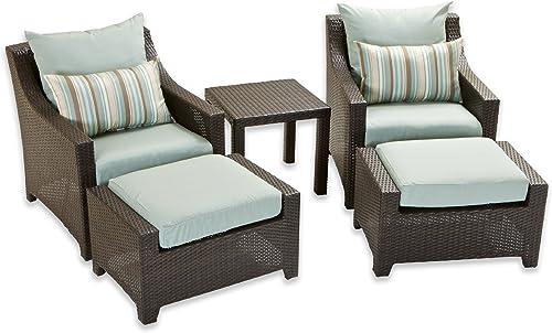 RST Brands OP-PECLB5-BLS-K Deco 5pc Club Chair Ottoman Set - Bliss