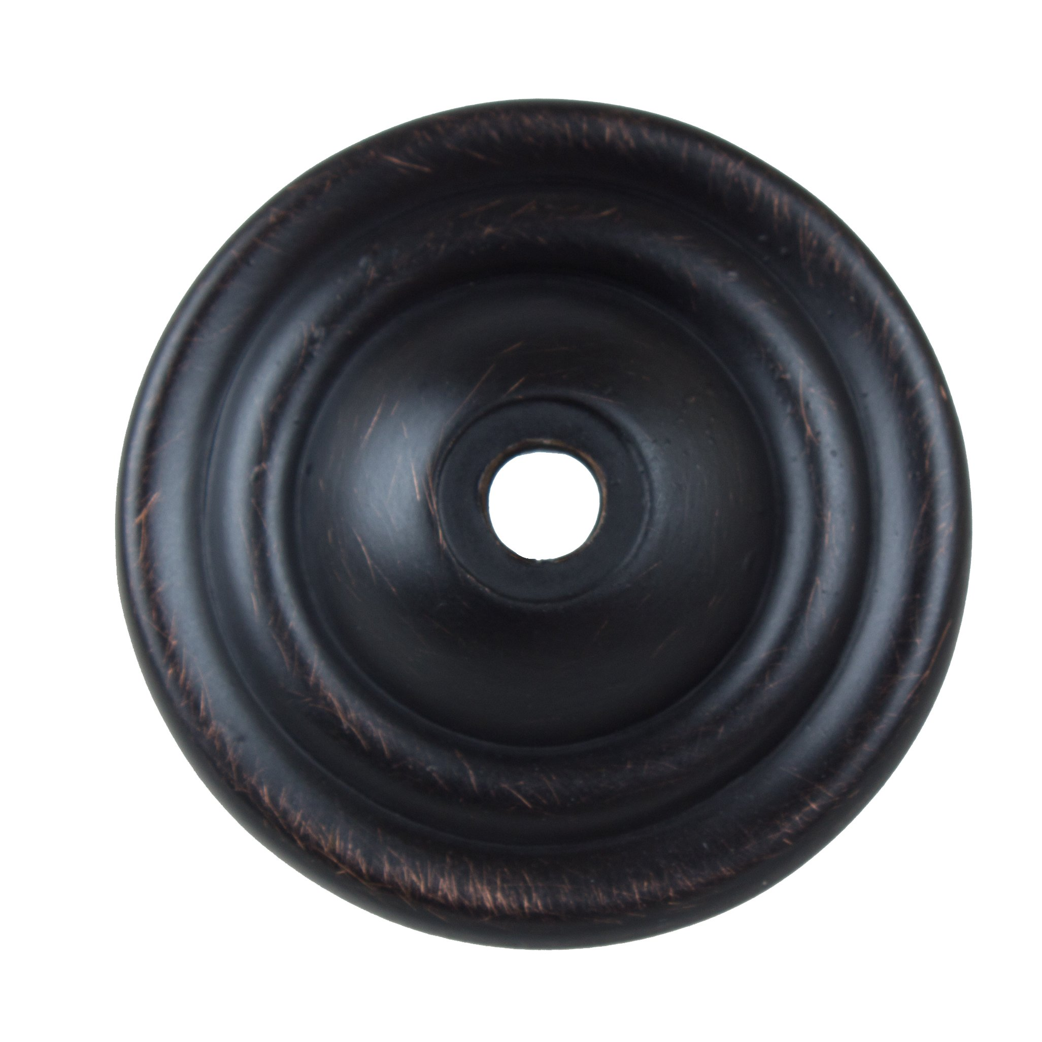 GlideRite Hardware 5061-ORB-10 1.5 inch Thin Rounded Oil Rubbed Bronze Ring Cabinet Back Plate 10 Pack