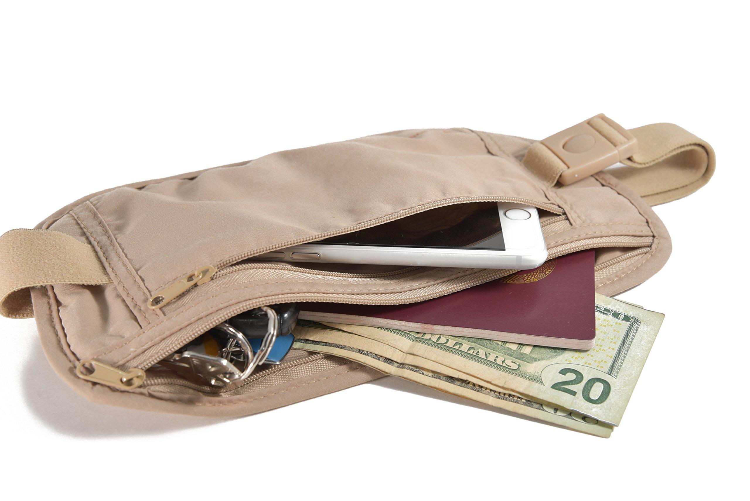 Travel Money Belt Waist Pack for Women or Men by Traveler's Peak