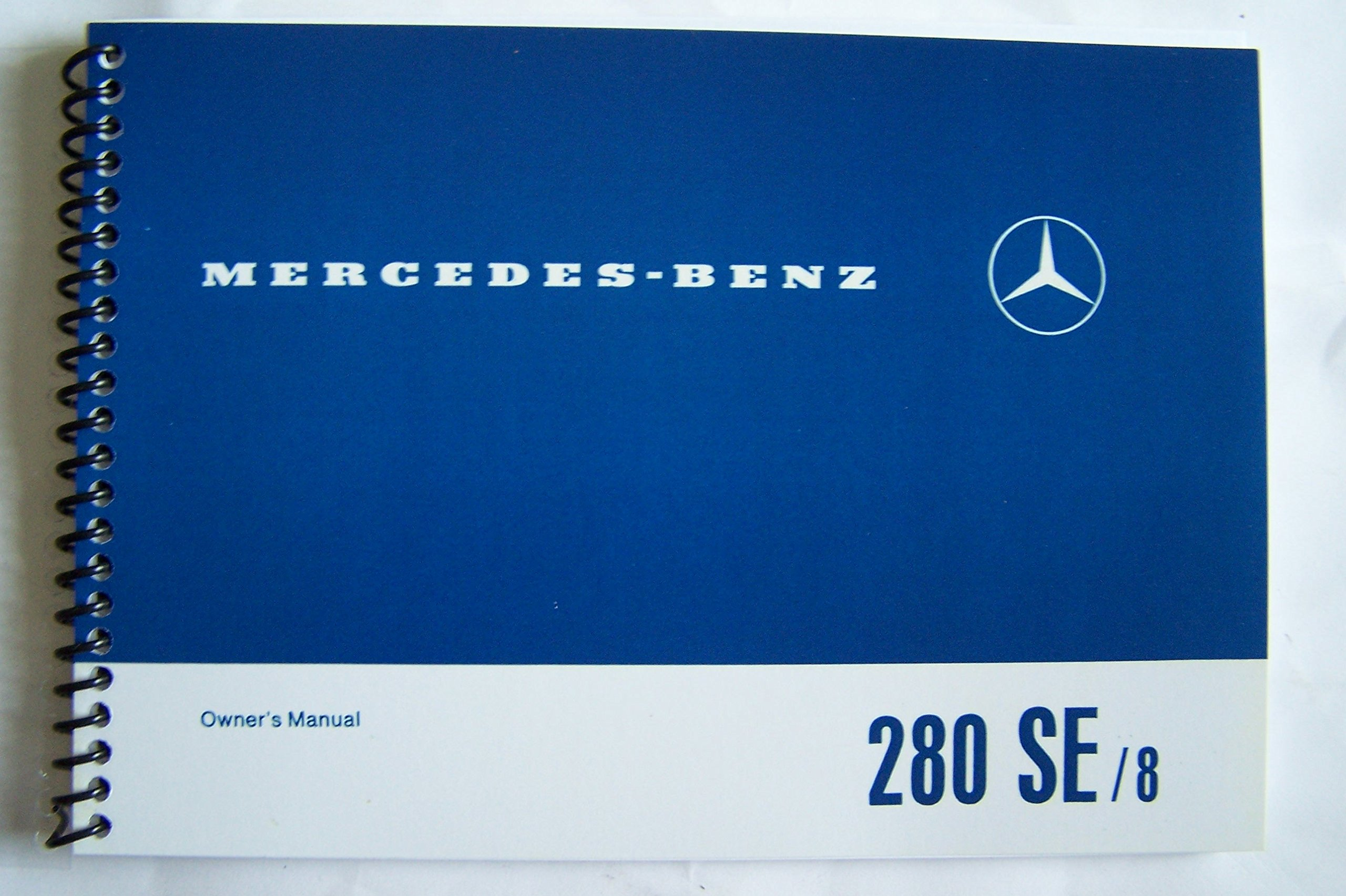 1970 mercedes benz 280 se sedan owners manual w 108 new factory reprint  spiral-bound