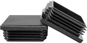 Prescott Plastics 2 Inch Square Plastic Plug, Heavy Duty Tubing Post End Cap (4)