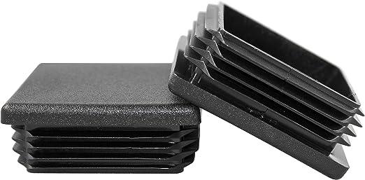 "1/"" x 2/"" Rectangular Plastic Tubing Plug End Cap 11 to 18 Gauge ABS Each"