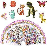 Meafeng djur dekal för barn 3D relief dekal för pojkar och flickor 52 olika blad färgglada klistermärken paket över 1100…