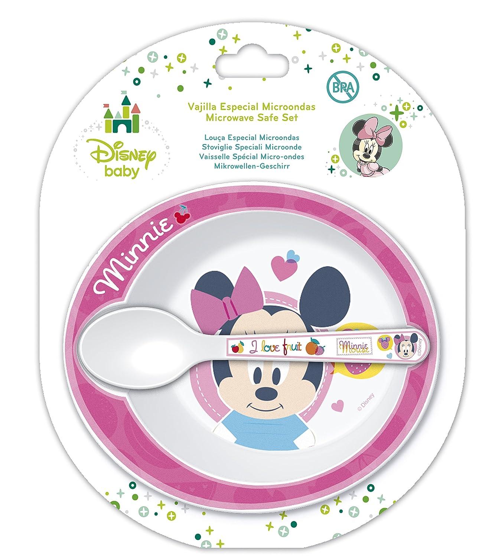Disney Minnie Mouse - Juego de cuenco y cuchara para microondas ...
