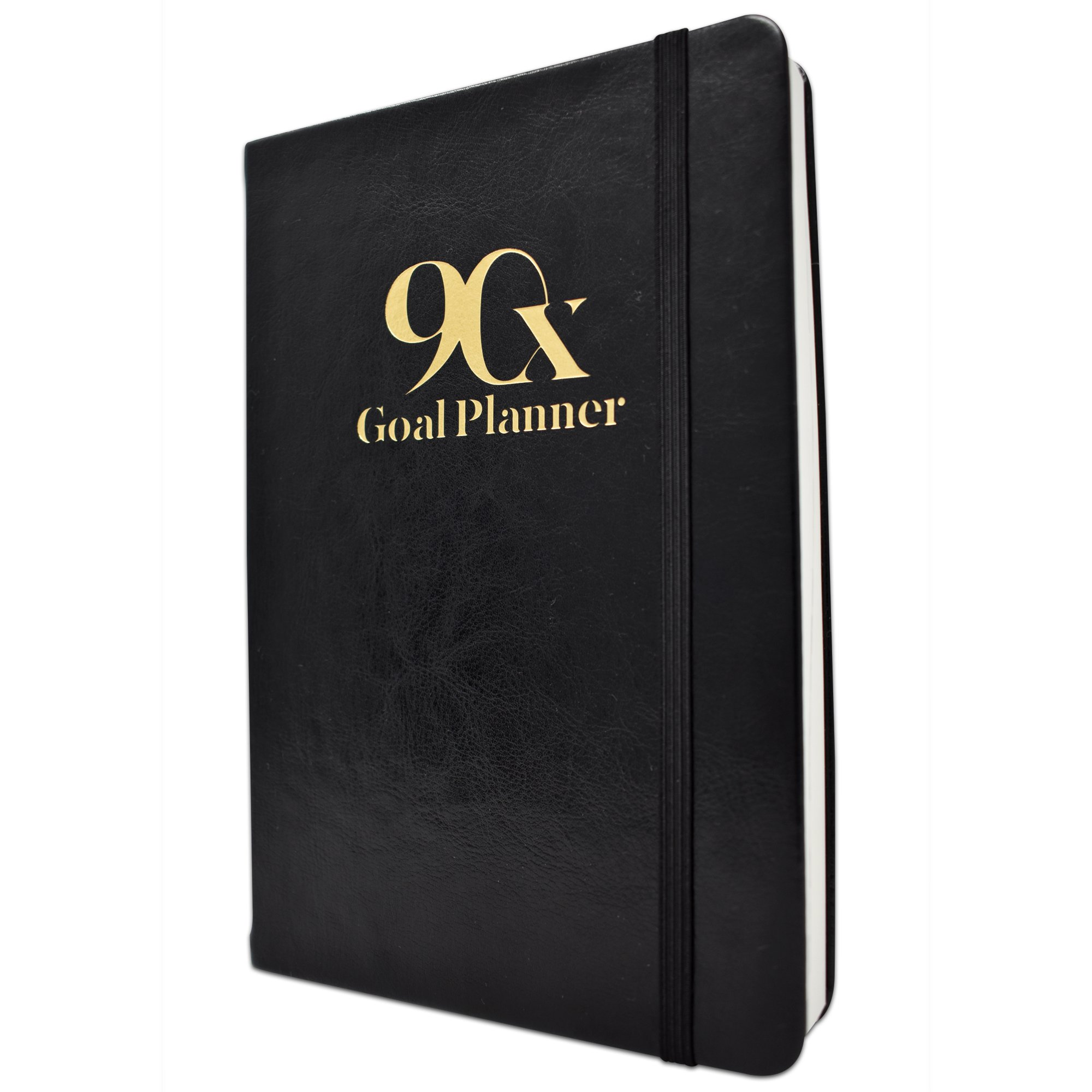 90 Day Goal Planner by 90X - Self Journal for Daily, Weekly, Monthly Planning - Increase Productivity & Time Management - Undated Calendar Days - Includes Vision Board & to Do List (Classic Black)