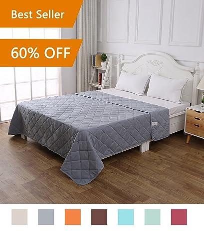 Amazoncom Quilt Solid Greyking Size 102x96 Diamond Pattern