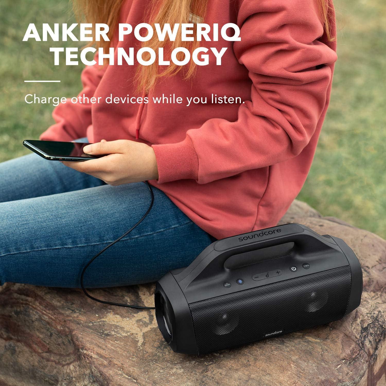 Poign/ée Enceinte Bluetooth Portable pour Le Camping App SoundCore Drivers Titane Technologie BassUp Anker SoundCore Motion Boom Enceinte Bluetooth dExt/érieur /Étanche IPX7 Autonomie 24 h