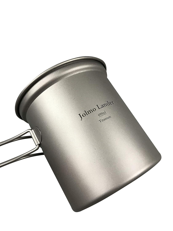 Jolmo Lander ext/érieur Titanium Pot de Fleurs avec Bol Titanium Xamping Batterie de Cuisine Titanium Faitout
