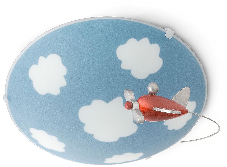 Philips MyKidsroom LED Pendelleuchte Iridia, Holz, rot 915002235802
