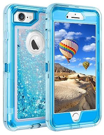 iphone 8 case blue glitter