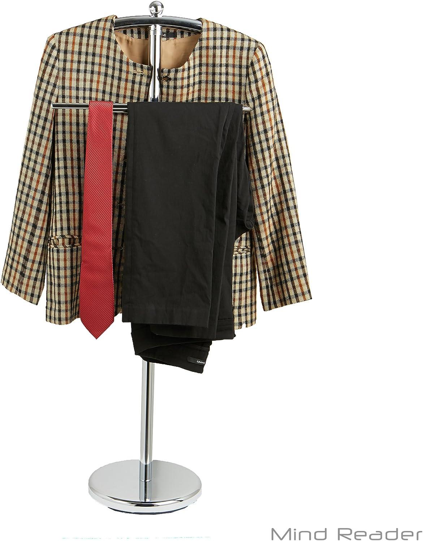 Valet Chair Standing Mens Clothing Hanger Wardrobe Organizer Bedroom Rack Stand
