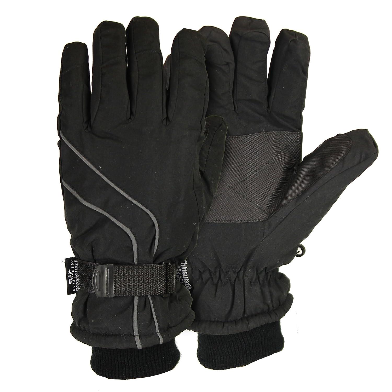 Mens down gloves - Men S Micro Nylon Waterproof Thinsulate Lined Cuffed Ski Glove