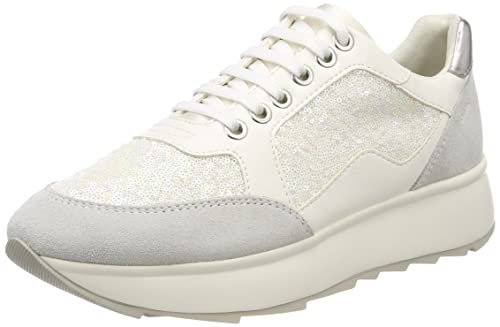 D Gendry a, Zapatillas para Mujer, Blanco (Off White), 38 EU Geox
