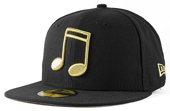 309a6a798 New Era Black / Gold Metallic Note New Era 59Fifty Fitted Baseball Cap Size 7  1/4: Amazon.co.uk: Clothing