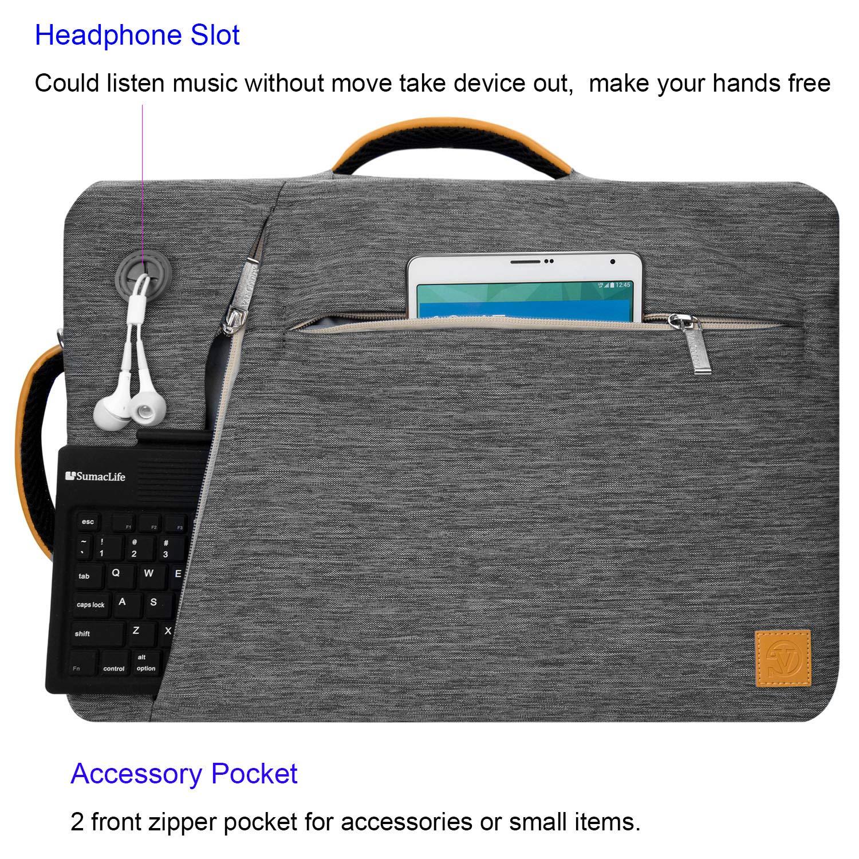 Amazon com: 15 6 Inch Computer Briefcase Bag 15 6