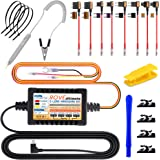 ROVE Ultimate Dash Cam Hardwire Kit, 11.5ft Mini USB Hard Wire Kit for Dashcam Converts 12V-24V to 5V/2A w/Fuse Kit and Insta