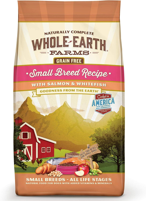 Whole Earth Farms Grain Free Small Breed Salmon & White Fish Dry Dog Food
