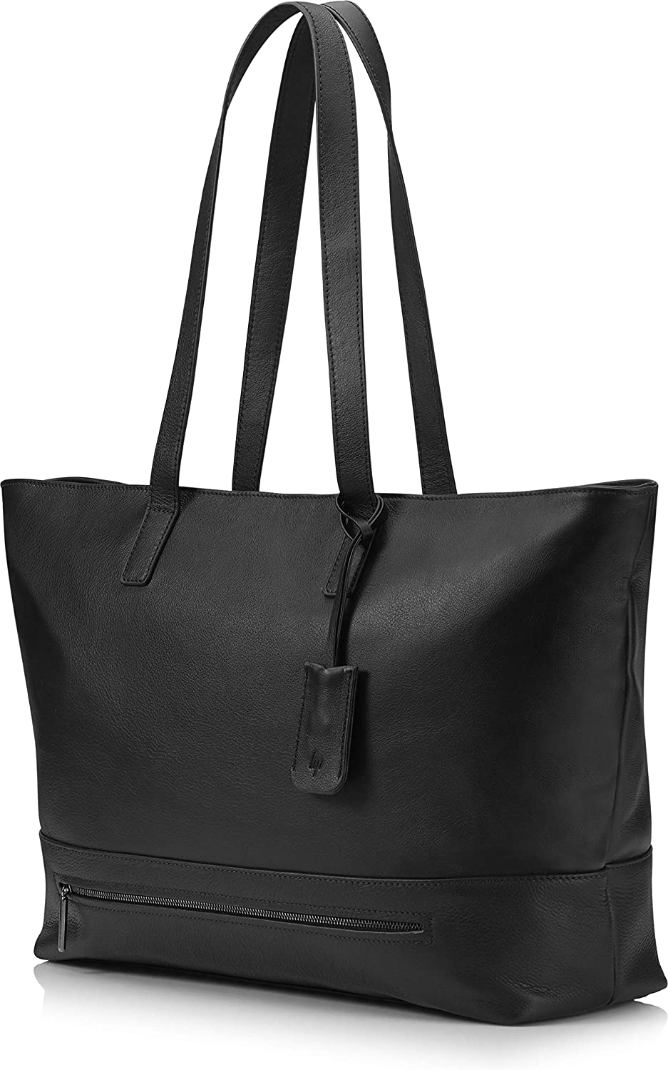 HP Spectre 14- to 17-inch Laptop Tech Tote (Full Grain Black Leather)