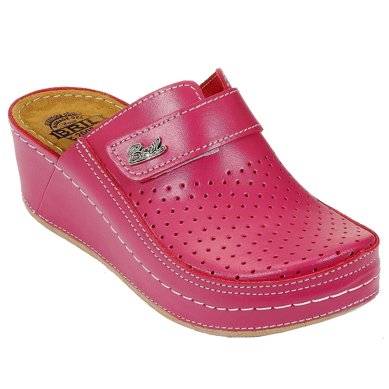 Dr Dames Punto Mules Rosso BRIL D130 Sabots Femme Mules Chaussons Chaussures en Cuir Femme Dames Rose d2c209d - deadsea.space