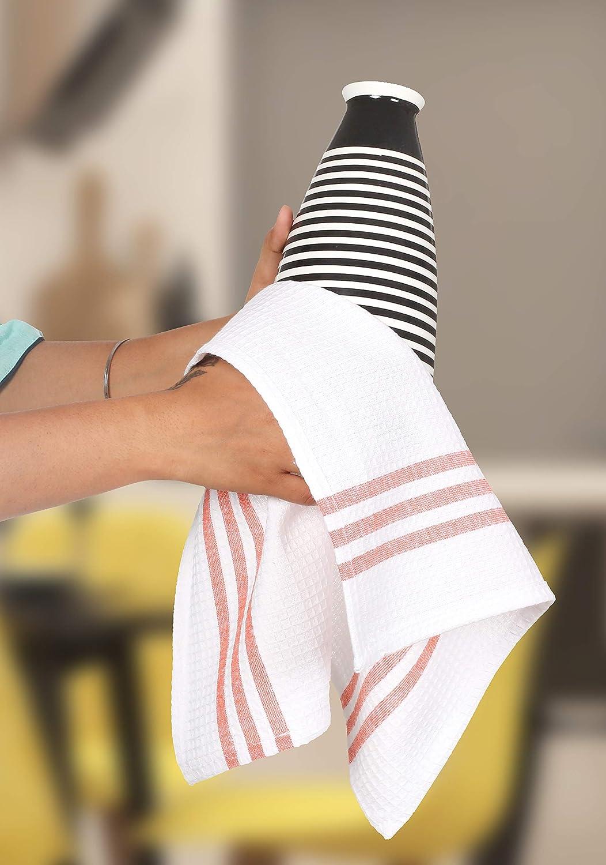 Life By Cotton 6Pk Plaid Woven Dish Towels Kitchen Towels 18x28 Black//White
