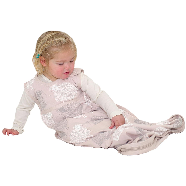 Merino Kids Baby Sleep Bag for Toddlers 2-4 Years, Light Green/Light Grey Stripe GGSWLRG02