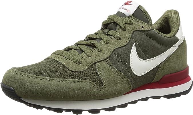 biografía arbusto Censo nacional  Nike Internationalist Leather - Zapatillas de Senderismo para Hombre Verde,  Talla 40.5: Amazon.es: Zapatos y complementos