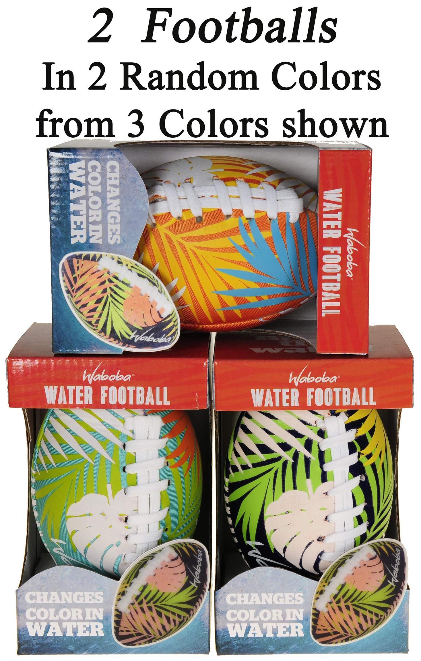 Waboba Color Changing Water Football 6'' // Bundle of 2 Footballs (Random Colors) // Bonus Blue Nylon Mesh Carry Bag// Bundled Items by Waboba (Image #5)