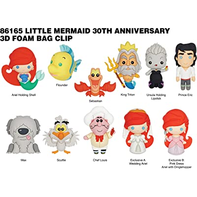 Disney The Little Mermaid 3D Foam Bag Clip in Blind Bag: Toys & Games