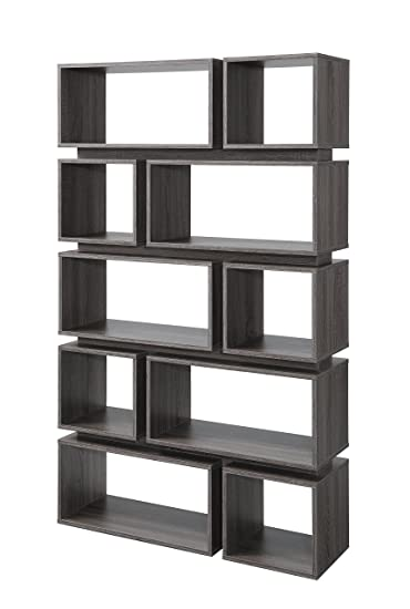 Superior HOMES: Inside + Out IoHOMES Taylor Modern Display Shelf, Distressed Gray
