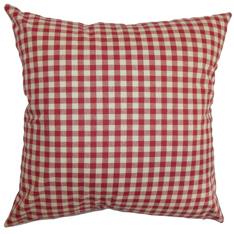 Light Green The Pillow Collection Wren Plaid Pillow