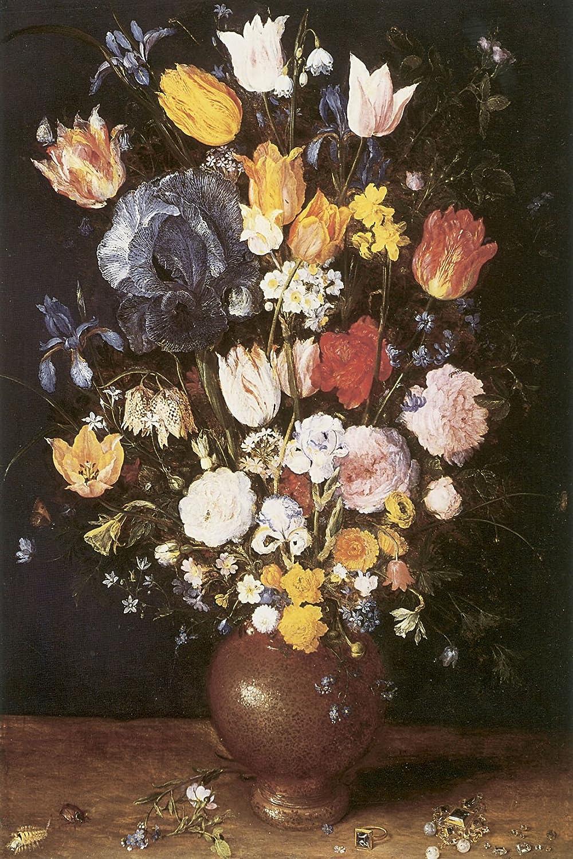 花瓶の花、Jan Brueghel – キャンバスまたはFine印刷壁アート Fine Paper - 20 x 30 Fine Paper - 20 x 30  B00BNGNR96
