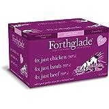 Forthglade 100% Natural Grain Free Just 90% Meat Selection Dog Pet Food Multi-Pack 395g (12 Pack)