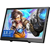 TOGUARD 13.3 Inch IPS Gaming Monitor Small Portable Display Screen HD 1920x1080 with Dual Mini HDMI Built-in Speakers, Support Two-Way Power Supply for PS3/PS4/Xbox/Raspberry Pi/WiiU Computer