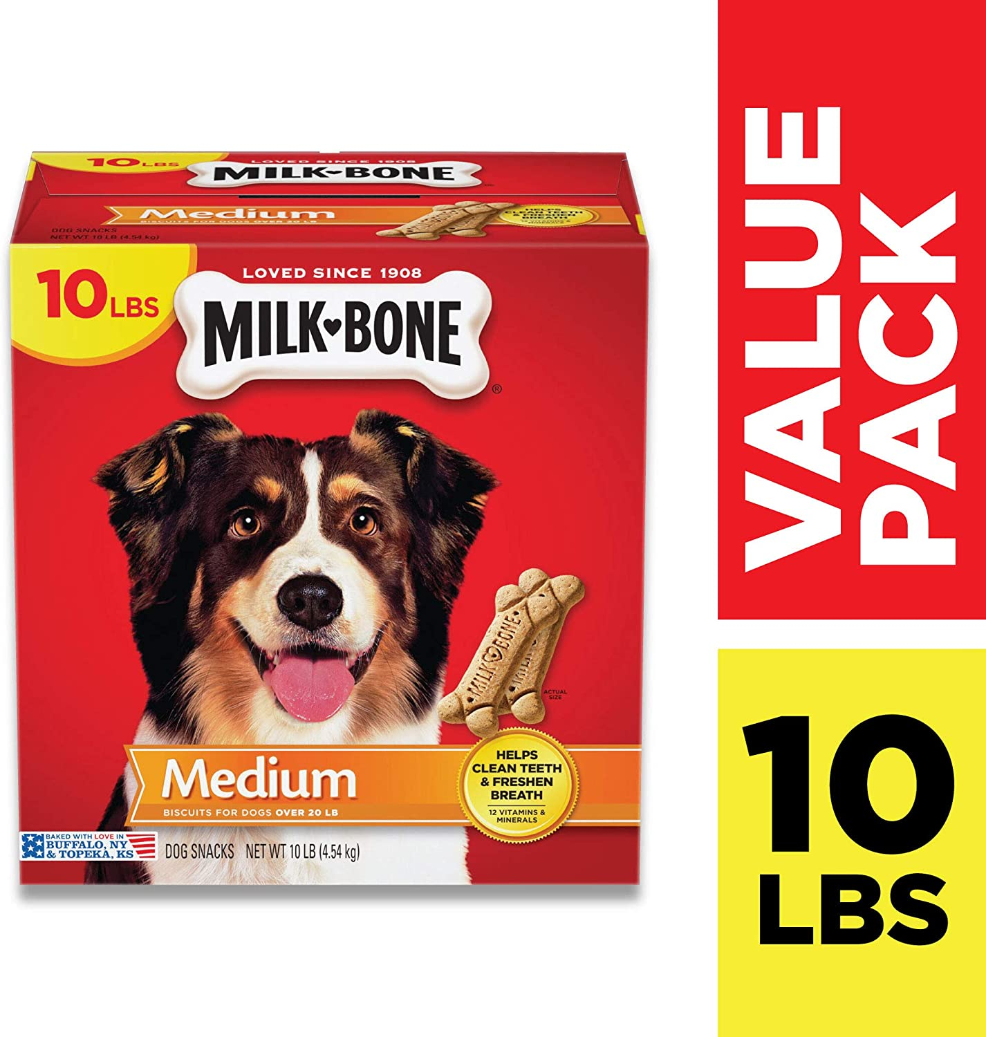 Milk-Bone Original Dog Treats, Cleans Teeth, Freshens Breath